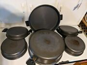 Miracle Maid West Bend Wisconsin 6 Piece Set Pans And Lids Made In Usa 🇺🇸