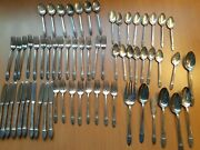 63 Pieces, Roger Bros 1847 Flatware, Silver Plate, As Shown.