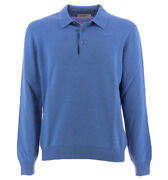 Gran Sasso Sweaters Polo Cachmere Baby Blue 55132 19690 577