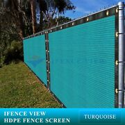 Ifenceview 20 Ft Wide Turquoise Fence Privacy Screen Patio Top Sun Shade Cover
