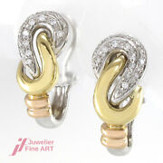 Clip Connector In 18k White Yellow And Rose Gold With Brilliance Ca.060 Ct -