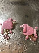 Lunch At The Ritz Poodle Drops Pierced Earrings New