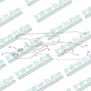 1978-79 Ford Bronco 4wd Power Disc Complete Brake Line Kit 8pc Stainless