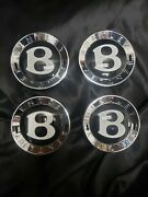 Bentley Set 4 Continental/flying Spur Factory Center Caps 3y0601162 3w0601159m