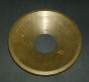 Large 10 1/8 Dia. Brass Insert For Early Stoneware Cuspidor Spitoon