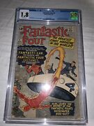 Fantastic Four 3 Cgc 1.8 1st Miracle Man Key Issue 1st Print 1962