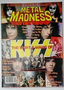 Kiss Vintage Metal Madness Magazine. Andrdquothe Might And The Magicandrdquo W/posters.very Rare