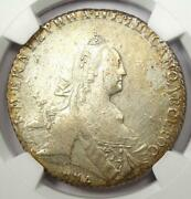 1768 Russia Catherine Ii Rouble - Ngc Au Detail - Very Rare Early Certified Coin