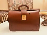 Brooks Brothers Brown Bridle Leather Briefcase / Lawyerand039s Bag - Made In England