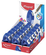 Maped Single-hole Tonic Metal Pencil Sharpeners Blue Pack Of 18