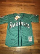 1995 Ken Griffey Jr Jersey Teal Seattle Mariners Throwback Stitched Nwt Large