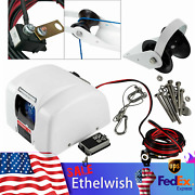 45 Lbs Marine Electric Anchor Winch With Wireless Remote Fits Salt Water White