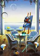 Ferjo Relaxation Giclee On Canvas Signed And Numbered Surrealism