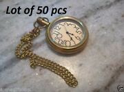 Vintage Antique Brass Old Time Pocket Watch Chain With Hook Gift Item Lot Of 50