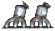 New Pair Front Catalytic Converters For Land Rover Lr2 3.2l L6 Gas 2008-2012