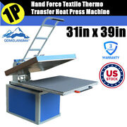 Us Stock 31in X 39in Large Format Manual Textile Transfer Heat Press Machine 220