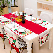 Christmas Holidays Festival Table Decorations Embroidered Table Runner Ornament
