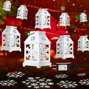 Christmas Decoration String Lights With Snowflake Projector Vintage 22ft 6