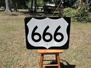 New Route 666 Deviland039s Hwy Real Road Sign Rt 666 Great For Man Cave Bar Gift