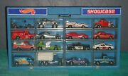 Hot Wheels 1970s Lot Of 16 Vintage Vehicles And Showcase Storage Display Case