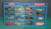 Hot Wheels 1980s Lot Of 16 Vintage Vehicles And Showcase Storage Display Case