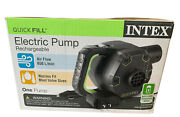 Intex 120v Quick Fill Cordless Rechargeable Inflatable Airbed Pump Air Flow 650l