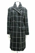 Christian Dior Coat Women And039s Long Size 38 Check 2018 Winter _16234