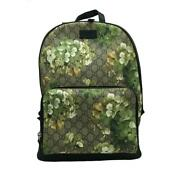 Backpack Gg Blooms Green Floral Tea System Silver Fittings Vinyl Ch _99369