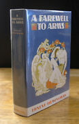 A Farewell To Arms By Ernest Hemingway, First Edition Library, 1st State Wrapper
