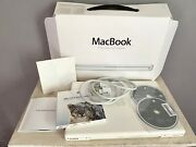 13 Apple Macbook Old 2009 Laptop White Works No Battery With Cords
