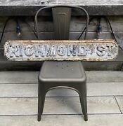 Rare Victorian Edwardian Cast Iron Road Street Name Sign From Lancashire