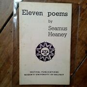 Seamus Heaney Eleven Poems 1st 1966 Rare Book Second Issue