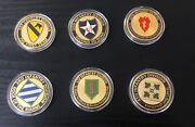 U.s. Army Infantry Division 1st 2nd 3rd 4th 25th 1st Cav Challenge Coin Lot Of