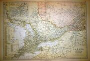 1882 Large Victorian Map Canada Province Of Ontario And Quebec Montreal