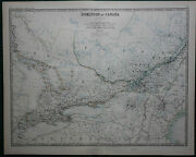 1887 Large Victorian Map Dominion Of Canada Central Ontario Quebec Montreal