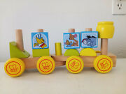 Disney Baby Winnie The Pooh Wooden Stacking Train Set Toy By Melissa And Doug