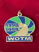 Vtg 1998/1999 Wotm Women Of The Moose Club Peacock Bird Necklace Charm 1