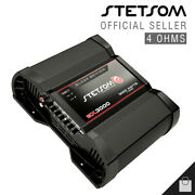 Stetsom Ex 3000 Black Edition 4 Ohms Amplifier 3k Amp Eq Hd Car - 3 Day Delivery
