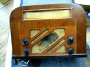 Philco 40-130 Vintage Tube Radio In Good Condition, Needs On/off Switch Andgrill