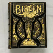 1889 Holy Bible Family Victorian Leather Antique Fine Binding Gustave Dore Rare