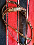 Vintage Sterling Silver Vintage Show Bridle With Heart Conchos