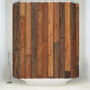 Rustic Country Barn Doors Fabric Shower Curtain Old Wood Boards Bath 71x72 Fast