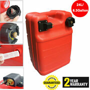 24l Portable Boat Fuel Tank For Yamaha Marine Outboard Fuel Tank W/ Connector