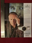 Dennis Hopper For Ebel Sport Collection Watches 1992 Print Ad - Great To Frame
