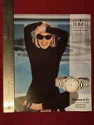 Sharon Stone For Ebel Sport Collection Watches 1992 Print Ad - Great To Frame