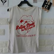 Vintage 70and039s The Rolling Stones Europe Tour 1976 Concert T-shirt Music Rock Vtg