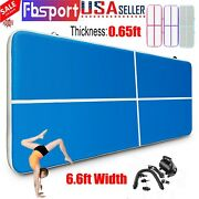 13ft 6.6ft Width Inflatable Air Tumbling Mat Gym Gymnastics Floor Mats With Pump