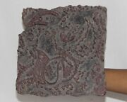Vintage Wooden Printing Blocks Hand Carved Textile Fabric Stamps 12800