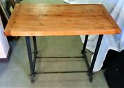Antique Industrial Table Kitchen Island Work Table 1930 1940and039s Bread Board Top