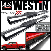 Westin Pro Traxx 6 Stainless Oval Nerf Step Bars 15-20 Ford F-150 Supercrew Cab